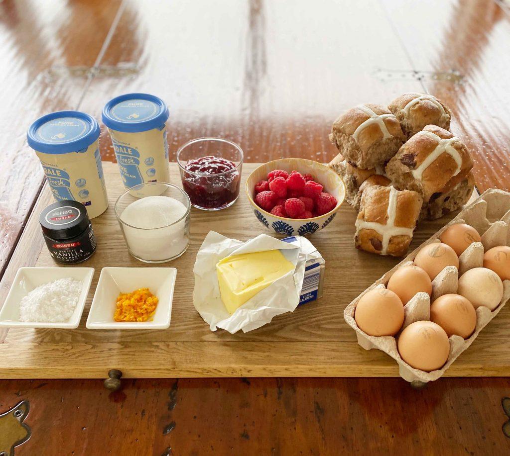 Hot Cross Bun Pudding Recipe